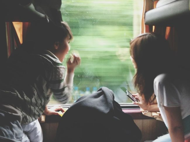 Exploring On The Train Chitchat Heartbeat Moments The Traveler - 2015 EyeEm Awards
