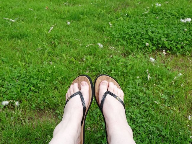 Vacation France EyeEm Selects Grass Low Section Shoe Body Part Human Leg Human Body Part Human Foot Sandal Women Lifestyles Day Nature Personal Perspective One Person Field Land Real People