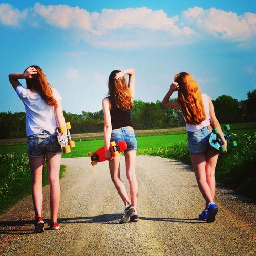 Longboardgirlscrew Skate Boarding  Pretty Girls Summer ☀