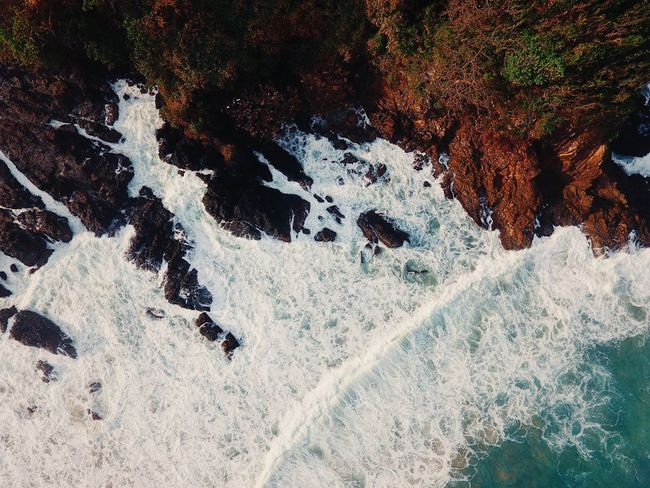 Top Perspective Top View Rock Formation Waves Nature Day High Angle View Beauty In Nature Outdoors No People Motion Water Scenics