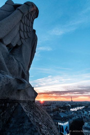 Sunset Sunset Sunlight Sunset_collection Paris Tour Saint-Jacques Dmda Roof
