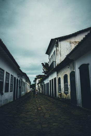 Moody day in Paraty, Rio de Janeiro, Brazil Colonial Colonial Architecture Paraty Paraty - RJ Parati Brazil Streetphotography Street No People Blue Grey City Cityscape EyeEm Selects EyeEm Gallery EyeEm Best Shots
