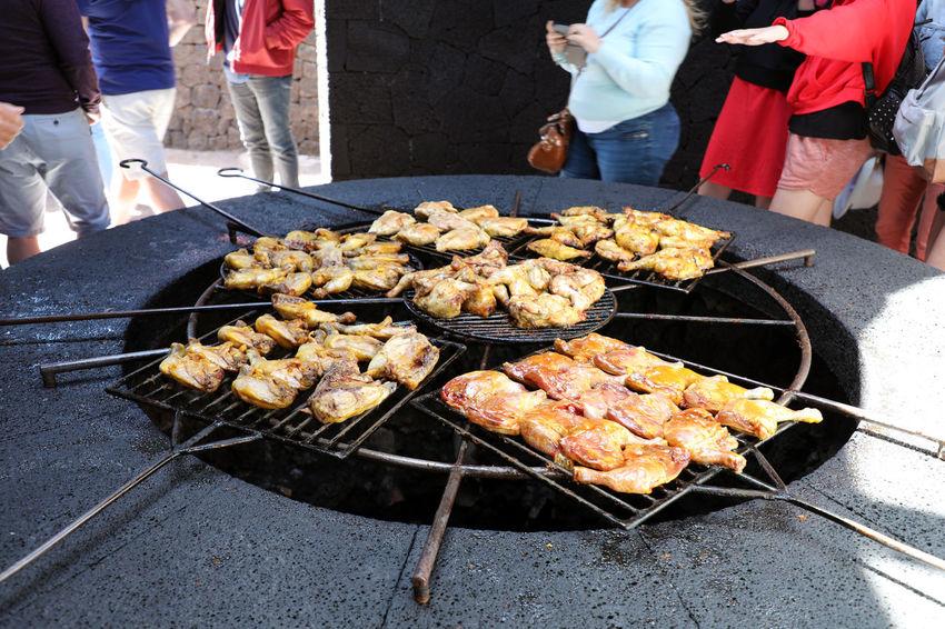 Volcanic barbecue Chicken Lanzarote Lanzarote Island SPAIN Barbecue Barbecue Grill Barbecuetime Volcanic Crater Volcanic Landscape Volcanic Rock Yaiza
