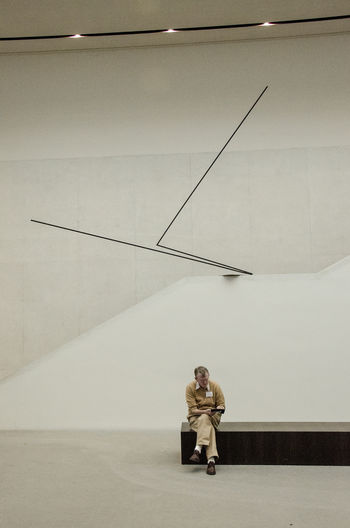 Architecture LWL Museum Für Kunst Und Kultur Art Art Object Formal Geometric Abstraction Geometric Shape Indoors  Light And Shadow Museum One Person Reading A Book