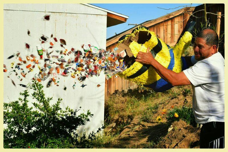 Mexican Piñata Taking Photos Enjoying Life