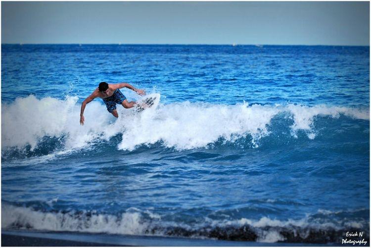 Sea Beach Blue Skimboarding Island