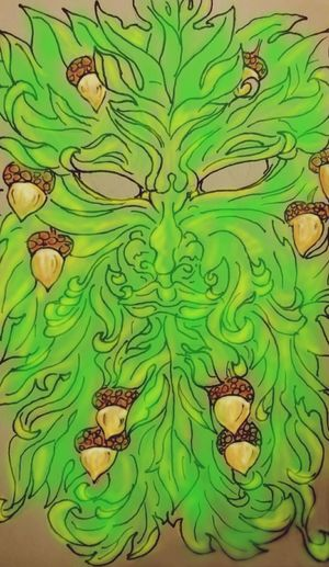 I sketched a Greenman, colored him on my phone. Overall, happy with my results Escaping. First Eyeem Photo