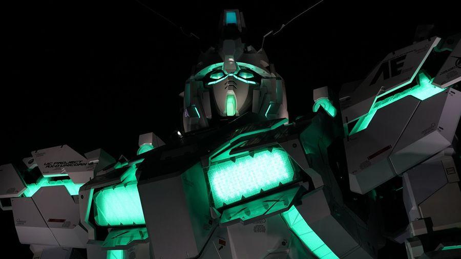 ガンダム お台場 夜景 ダイバーシティ東京 Illuminated Gundam Japanese Culture Robot Model - Object Night Lights Details Lines And Shapes Taking Photos Odaiba Tokyo,Japan From My Point Of View Night Photography 16:9 Crop Cropped Only Sony A7s II Meyer Optik Orestor 135mm F2.8