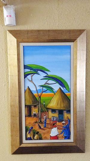 Original Artwork Rural Scene Secured