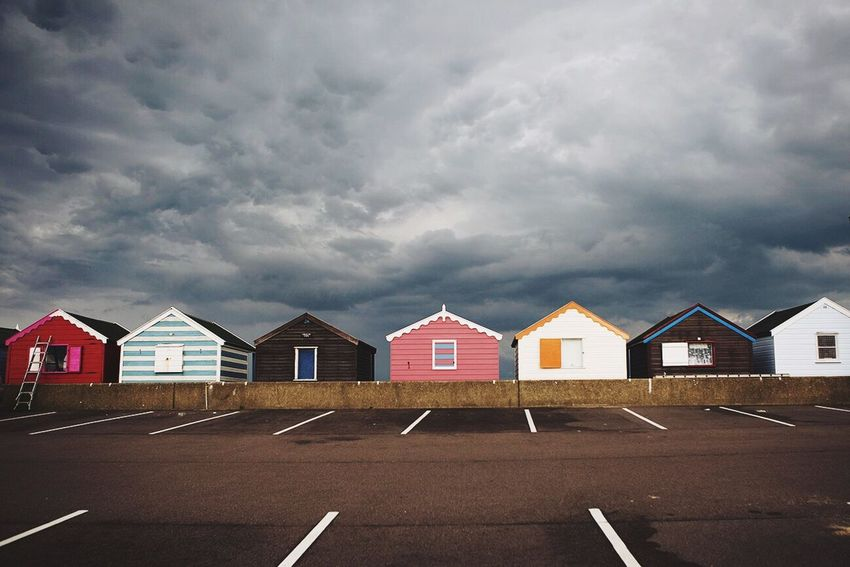 Southwold Beach Huts English Summer England Stormy Sky Landscape_Collection Colors Deceptively Simple
