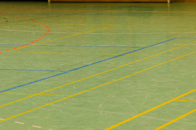 Hall floor in a gymnasium with diverse lines Basketball Flooring Handball Labels Lines Sports Field Background Field Lines Gym Indoor Flooring Indoor Soccer Indoor Sports Pitch Soccer Sports Ground Sports Hall Sports Hall Floor