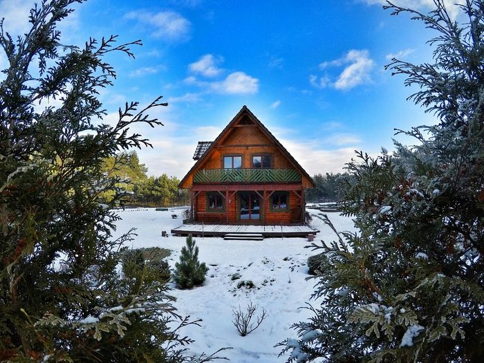 Winter house , Poland Nature Architecture Outdoors Day No People Traveling Home For The Holidays Winter