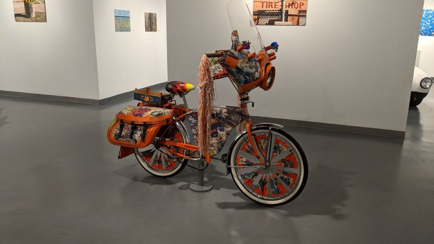 Art Bike at Art Car Museum in Houston, TX Art Bike Art Car Museum Saddlebag Museum Travel Travel Photography Travel Blogger Houston Htown#Houston Htx Good Times Followme Pixelxl2 Bicycle Art Museum