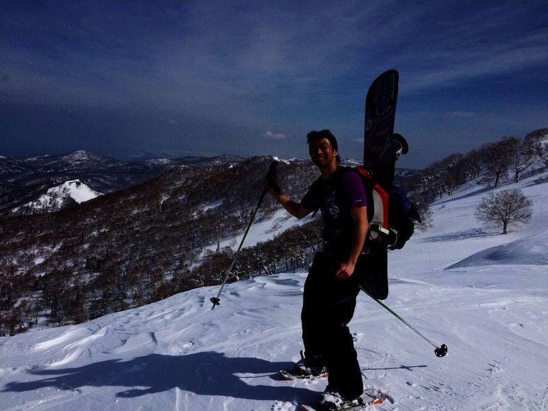 顔が…黒い…笑 Backcountry Nature Snow Mountain Snowboard Mountain