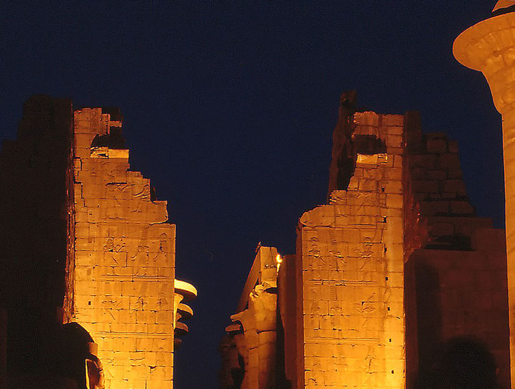 Sound and Light show - Great Temple of Karnak - Luxor, Egypt Architecture Night Spirituality Travel Tourism History Outdoors Ancient Illuminated The Past Archaeology Arch Karnak Temple No People Sound And Light Son Et Lumière Place Of Worship Egyptian History Travel Destinations Low Angle View Ancient Civilization Building Exterior Built Structure Old Ruin Architectural Column