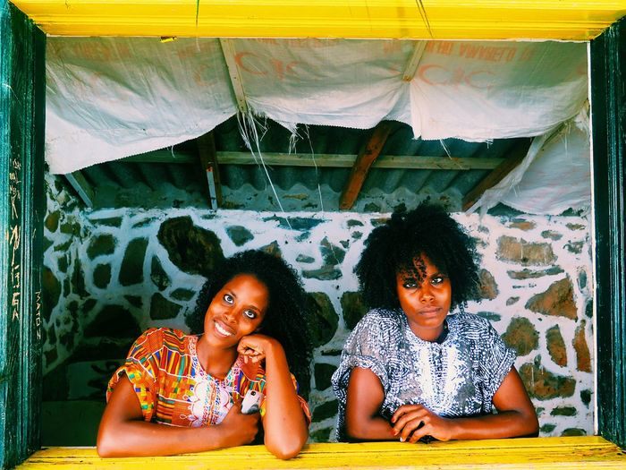Portrait Of A Friend Twins Caboverde CaboVerdeAFRICA Beach BeachHouse Architecture Yellow Enjoying Life Open Edit