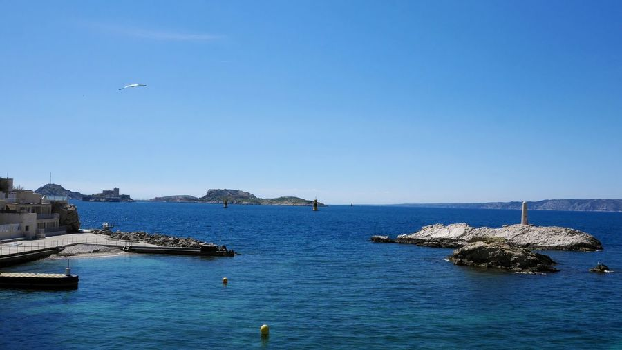Lighthouse Seafront Sea And Sky Sea View Mediterranean  Mediterranean Sea Marseille Summer Summertime Horizon Over Water Island Blue Sky Bird Water Sea Clear Sky Blue Beach City Flying Sky Horizon Over Water Archipelago