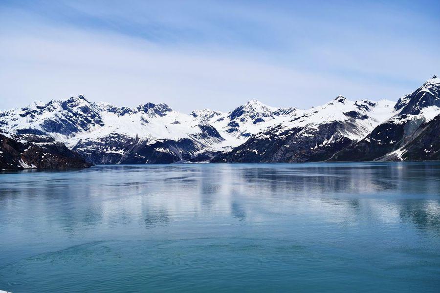 Alaska Arctic Cold Glacial Reflec Glacier Bay National Park Glacier Reflection Glaciers Ice Icecaps Landscape Mountain Reflection Mountains Water Mountain Sky