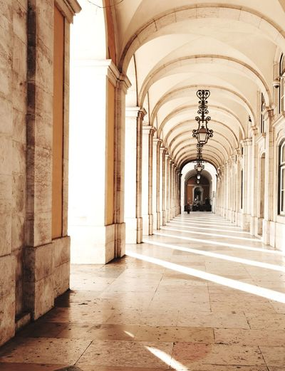 Sunny Lisbon Arch Architectural Column Built Structure The Way Forward Architecture History Colonnade Day Archway Europe Travel Portugal Winter Lisbon Light And Shadow Light Sun Rays Rays Shadow The City Light The City Light The City Light