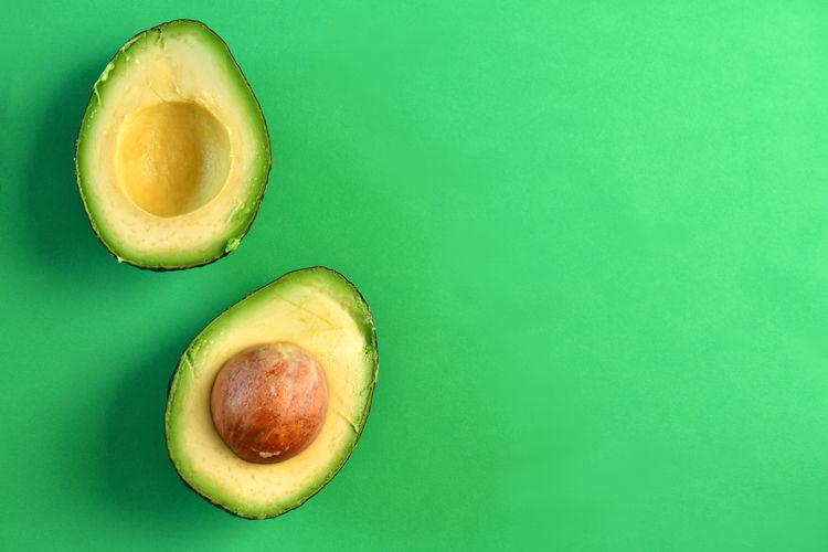 A cut avocado