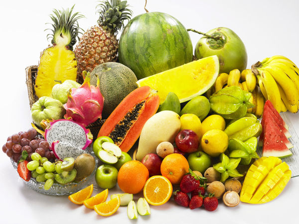 Banana Mango Pineapple Tropical Fruits Assortment Colorful Dragon Fruit Food And Drink Freshness Fruit Grape Guave Healthy Eating Honey Dew Lime No People Orange - Fruit Papaya Red Apple Strawberry Studio Shot Variation Variety Watermelon White Background