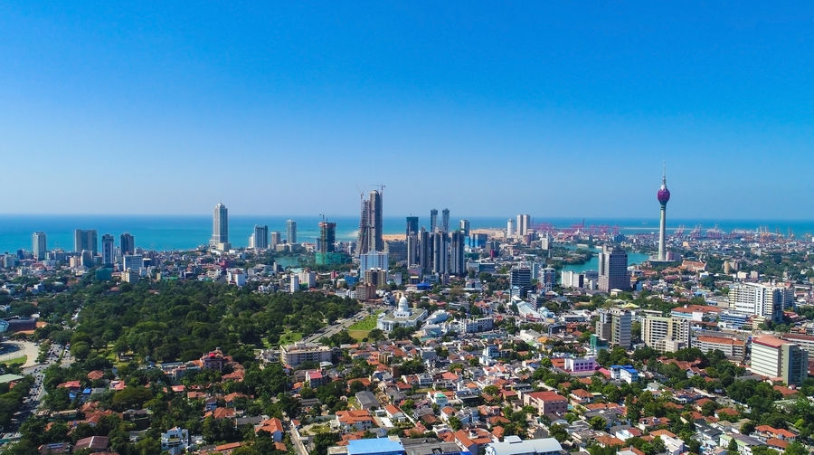 Colombo city skyline