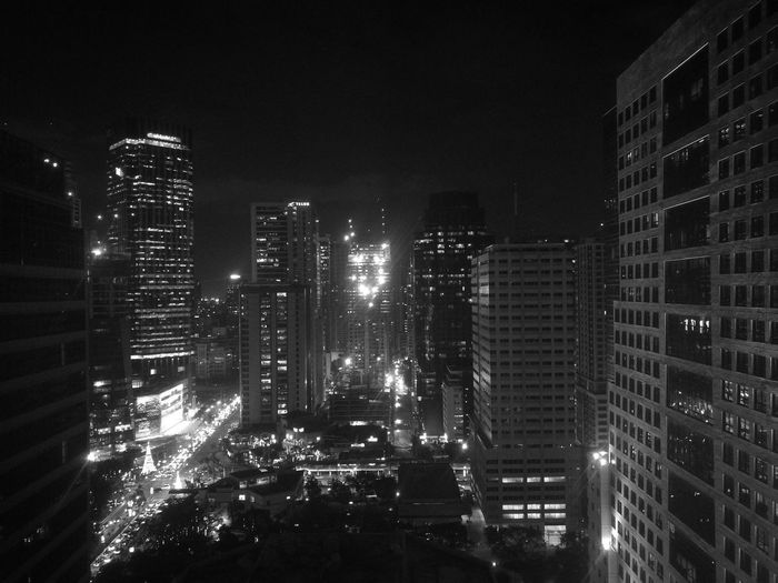 """When the city skyline meets the monochrome"" HuaweiP9 PhonePhotography Brytecphotography Skyscraper Illuminated Cityscape Architecture City Building Exterior Sky Urban Skyline Modern Built Structure Office Building Exterior Business Finance And Industry Outdoors No People Night EyeEm Ready"