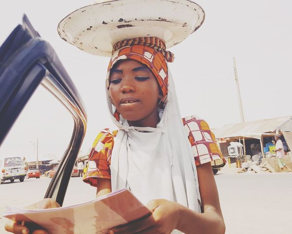 Girl Child Travel Destination Hawking Women Around The World Cellphone Photography Africa Day To Day Northern Nigeria Nigeria