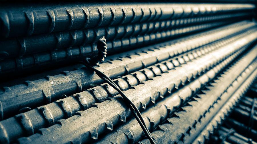 Bundle of steel reinforcement bars