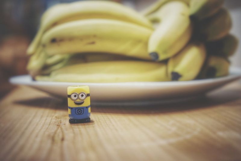 minions Minion  Minions ♥♥ Minion Love Fruit Table Close-up Banana Pineapple Banana Peel