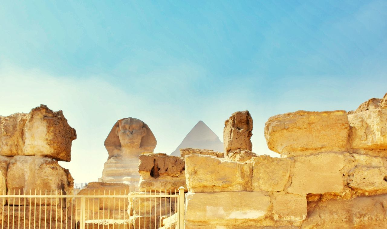 Low Angle View Of The Sphinx Against Sky