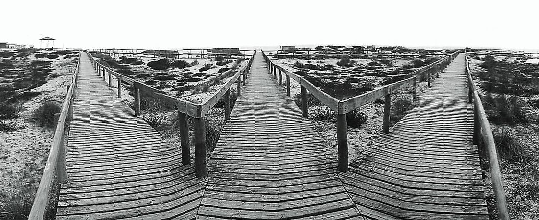 Portugal Beach Black & White Decision Decisions Options Pathways Path In Nature Ways Ways Of Life Blackandwhite Black And White Black And White Photography Showcase August EyeEm Best Shots EyeEm Gallery EyeEmBestPics Wood Directions Orientation Panorama Panoramashot Panoramic Photography Chance Encounters Monochrome Photography
