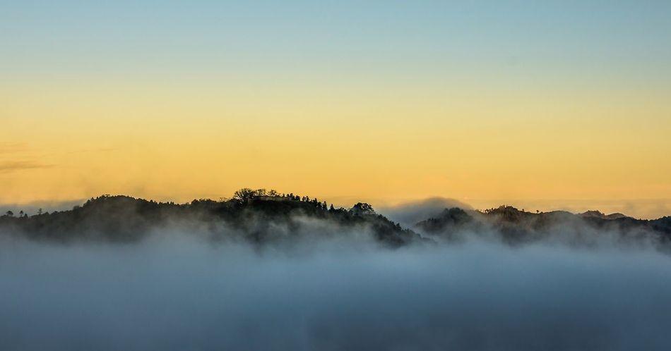 津和野 雲海 Nature Beauty In Nature Tranquility Fog Sunset Scenics Hazy  Tranquil Scene No People Idyllic Non-urban Scene Mist Outdoors Landscape Water Sky Mountain Day