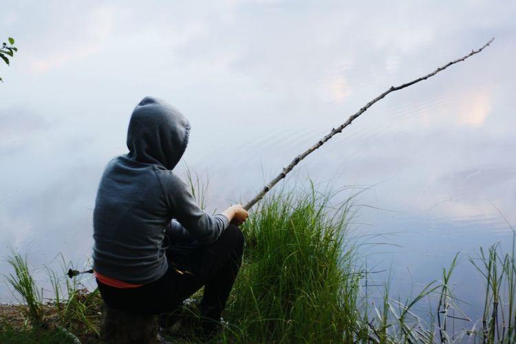 Summermemories Relaxing Enjoying Life Fishing