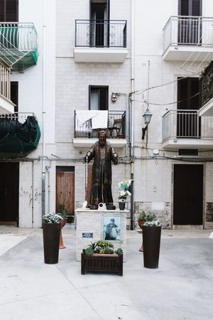 Architecture Building Exterior Built Structure Business Finance And Industry Store Window City Outdoors No People Day Religious Icons Religious  Religious  San Nicola Bari ❤ San Nicola Puglia - South Italy Saint Nicola Ancient Civilization Tourism Italy Sky Italy❤️ Puglialovers Statue Puglia, Italy