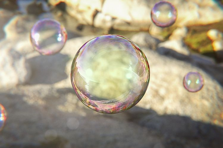 Close-up of bubbles