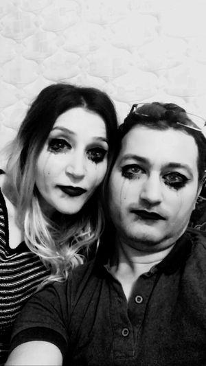 Two People Young Adult Wampire Love Wampirella Looking At Camera