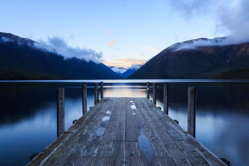 Lake Rotoiti sunrise Clouds Blue Long Exposure Structure Lake View Lake Scenics - Nature Sunrise Future Sky Cloud - Sky Water The Way Forward Direction Nature Mountain No People Cold Temperature Lake Scenics - Nature Outdoors The Traveler - 2018 EyeEm Awards Summer Road Tripping