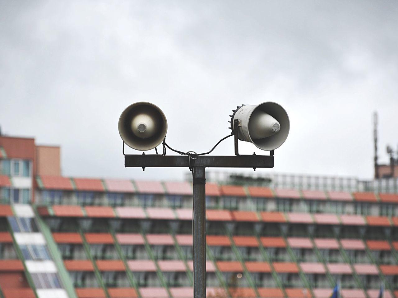 Close-up of loudspeaker at nurburgring
