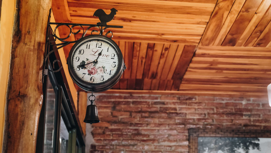 Alarm Clock Architecture Built Structure Clock Clock Face Close-up Focus On Foreground Indoors  No People Old Time Wall Wall - Building Feature Wood - Material