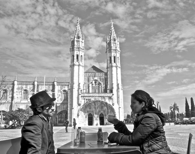 Architecture Blackandwhite Cathedral Coffee Break Discussion Lifestyles Lisbon Negotiating Portugal Travel Destinations