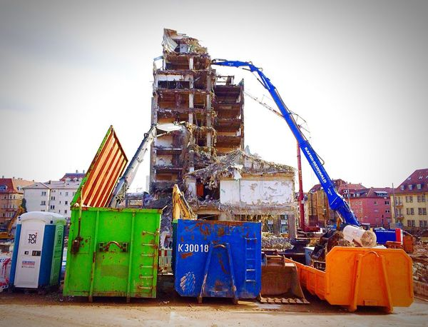 Stuttgart Hochhaus City Old Buildings Demolition Work Abrissarbeiten Demolition Check This Out Destruction City 2.0 - The Future Of The City Cityscapes