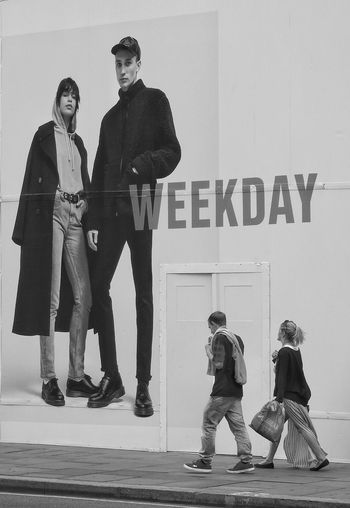Old-fashioned Full Length People Togetherness Day Standing Perspective Comparison Daytime Words Advertising Cool Doorway Stepping Out Black And White Hoarding Monochrome Poster Walking Standing Adults Only Outdoors Communication The Street Photographer - 2017 EyeEm Awards Real People EyeEm LOST IN London