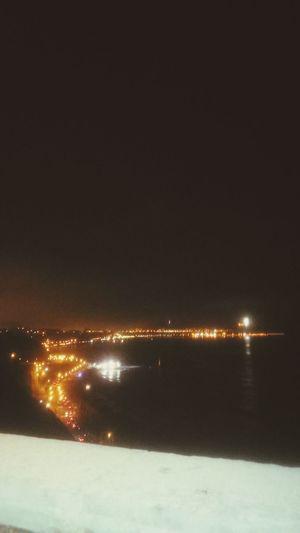 Nightphotography Night Lights Beach