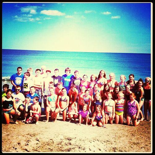 at hampton beach with the gang