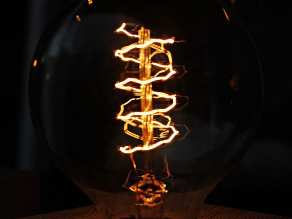 Bulb Close-up Edison Bulb Electricity  Filament Illuminated Indoors  Night No People Star - Space