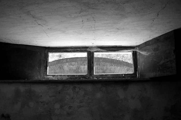 Abandoned Architecture Blackandwhite Building Built Structure Cellar Close-up Concrete Empty Forgotten Forgotten Places  High Window Indoors  Inside Light From The Window Low Angle Low Angle View Monochromatic Monochrome No People Open Window Room Small Window Window Windowsill