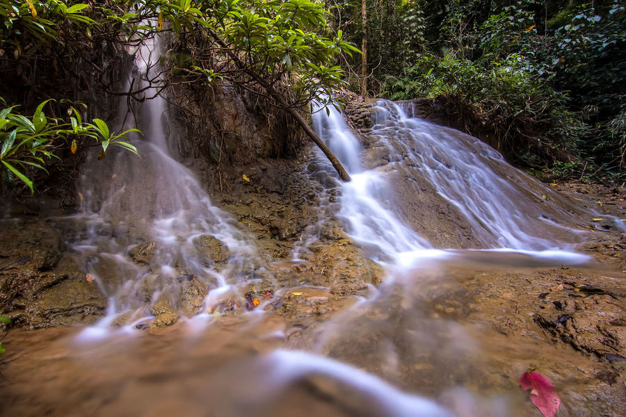 Beauty In Nature Day Forest Lampang   Thailand Long Exposure Motion Nature No People Outdoors Scenics Tranquility Tree Water Waterfall