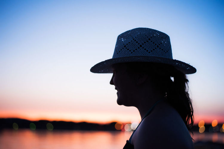 Colourful Holiday Travel Beautiful Woman Beauty In Nature Clear Sky Close-up Headshot Leisure Activity Lifestyles Nature One Person One Woman Only One Young Woman Only Outdoors Profile View Real People Side View Silhouette Sky Sunset Water Women Young Adult Young Women