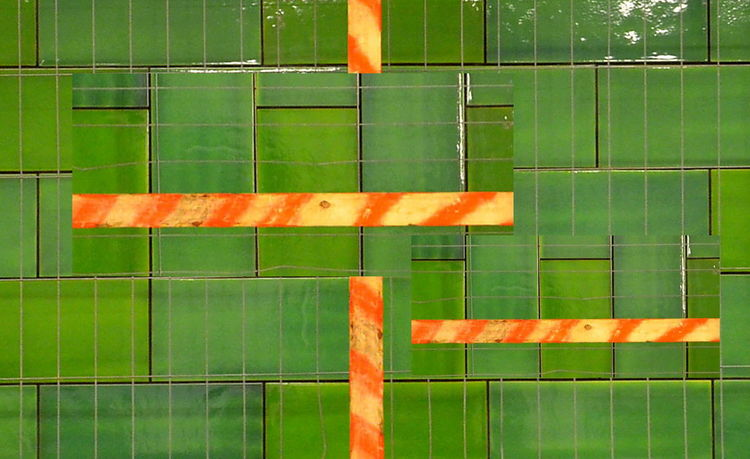 Cut And Paste Green Color No People Full Frame Redline Modern Art Gallery Berlin Photography Kacheln Fliesen Wood Art Wood Tiles Tiles Textures Contruction Zone Art Is Everywhere Wooden Plate